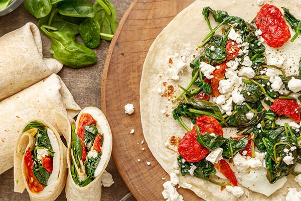 Spinach and Feta Wrap!